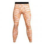 Men's Compression Pants Orange Camo Running Tights