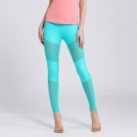 Tight Mesh Training Leggings Green Women's Pants
