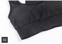 Women's Running Bras Yoga Shockproof Black Seamless Sports Bras [20181201-3]
