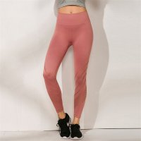 Women's Yoga Leggings Seamless High Waisted Red Workout Tights