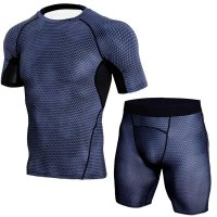 Men's Black Compression Shorts Snake Skin And Top Outfit