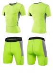 Men's Gym Clothes Green Fitness Apparel Workout Kits [20181210-3]