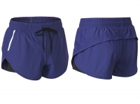 Women's Navy Reflective Running Shorts With Shorts Underneath [20201015-4]