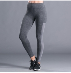 Women's Yoga Pants With Side Pocket Gray Gym Workout Leggings [20180912-3]