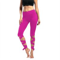 Women's Yoga Pants Short Rose Slim Workout Capri Leggings