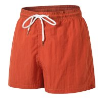 Men's Orange Beach Swimming Shorts With Pockets