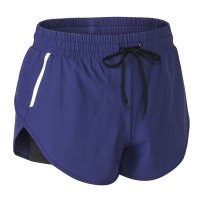 Women's Navy Reflective Running Shorts With Shorts Underneath