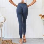 Women's High Waisted Workout Leggings Blue Yoga Pants [20190608-3]