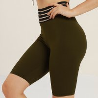 Women's Athletic Shorts 5 Inch Tights Green Yoga Workout Shorts