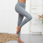 Women's High Waisted Gym Leggings Grey Yoga Tights [20190830-5]
