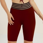 Women's Athletic Shorts 5 Inch Tights Claret Yoga Workout Shorts [20181225-6]