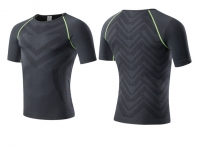 Men's Athletic Shirts Summer Black Green Running Tops Quick Dry Workout Tees [20181026-2]
