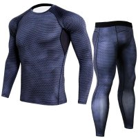 Men's Black Compression Pants Snake Skin And LS Shirt Outfit