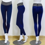 Women's Workout Leggings Navy Sports Tights Yoga Pants