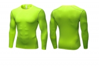 Men's Workout Tops Green Long Sleeve Bodybuilding Fitness Gym Shirts [20180921-7]
