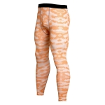 Men's Compression Pants Orange Camo Running Tights [20190617-13]