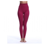 Women's Tight Workout Pants High Waisted Claret Athletic Yoga Leggings [20181127-1]