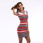 Women's Sheath Dresses Knitwear Grey Bodycon Dress