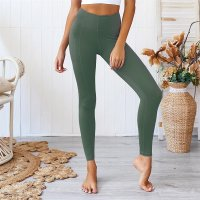 Women's Workout Pants With Pockets Green High Waisted Yoga Leggings