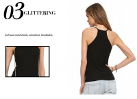 2018 Women's Tank Vest Tops Black Slim-Fit Camisole [20180328-3]