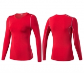 Women's Yoga Shirts Long Sleeve Gym Red Quick Dry Workout Tops [20180915-1]