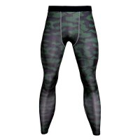 Men's Compression Pants Olive Camo Fitness Tights