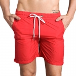 Men's Athletic Shorts With Pockets Liner Red Running Beach Gym Workout Shorts