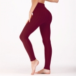 Women's Workout Leggings Claret Yoga Pants Running Tights