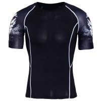 Men's Fitness Shirt White Wolves Athletic Top
