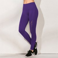 Women's Yoga Seamless Leggings High Waisted Purple Workout Bottoms