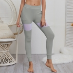 Women's Yoga Pants With Pockets Grey Mesh Athletic Leggings