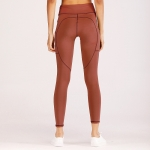 Women's Workout Leggings With Side Pockets Red Tight Yoga Gym Pants [20181204-3]