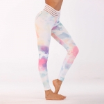 Women's Workout Leggings Floral Pink Yoga Pants Gym Tights [20190211-6]