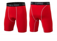Men's Gym Shorts 7 inch inseam Red Athletic Workout Shorts [20181107-1]