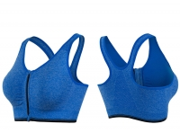 Women's Sports Bras Front Closure Supportive Blue No Underwire Yoga Workout Bras [20181013-11]