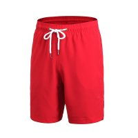 Basketball Shorts Red With Pockets Men's