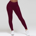 Women's Workout Leggings Claret Yoga Pants Running Tights [20190101-10]
