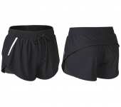 Women's Black Reflective Running Shorts With Shorts Underneath [20201015-2]