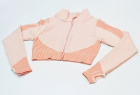 Crop Running Jacket With Thumb Holes Pink Women's [20200113-1]
