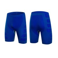 Men's Tight Fitting Shorts Blue Gym Compression Shorts