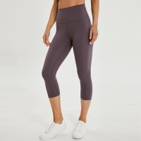 Gym Capri Lavender Women's Crop Leggings
