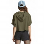 2018 Women's Summer T-shirt Olive Sweater With Hood [20180327-20]