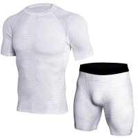 Men's White Compression Shorts Snake Skin And Top Outfit