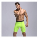 Men's Fitted Gym Shorts Tight Green 9 Inch Inseam Compression Shorts