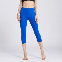 Active Capri Leggings Blue Women's Crop Pants