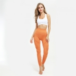 Women's Yoga Leggings Seamless Orange For Sweating Workout Pants