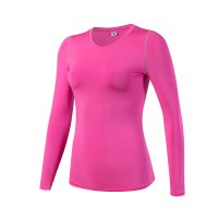 Women's Yoga Shirts Long Sleeve Gym Rose Quick Dry Workout Tops