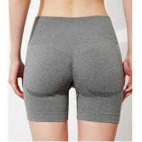 Seamless Gym Shorts High Waisted Grey Women's