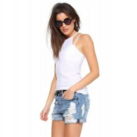 2018 Women's Tank Vest Tops White Slim-Fit Camisole
