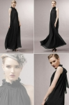 2018 Women's Maxi Dresses Bohemian Halter Chiffon Black Formal Dresses [20180329-3]